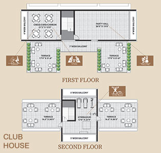 Clubhouse first and second floor layout